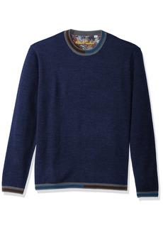 Robert Graham Men's Cooperstown Long Sleeve Sweater Crewneck  XLarge