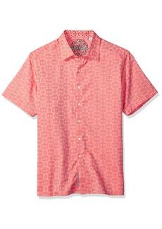Robert Graham Men's Cullen Squared Short Sleeve Classic FIT Shirt