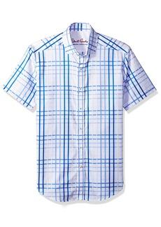 Robert Graham Men's Dax S/s Tailored Fit Woven Shirt  3XL