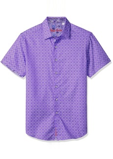 Robert Graham Men's Diamante Short Sleeve Classic FIT Shirt