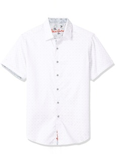Robert Graham Men's Diamante Short Sleeve Classic FIT Shirt