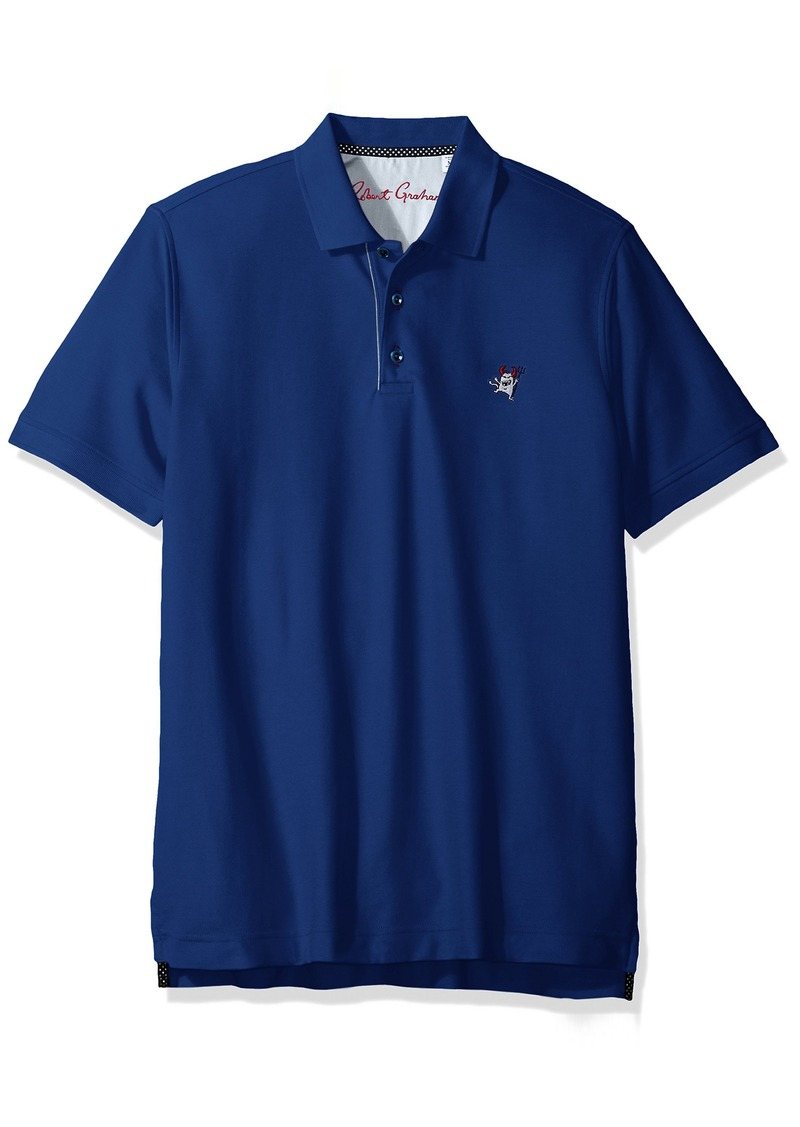 Robert Graham Men's Embroidered Logo Classic Fit Knit Polo