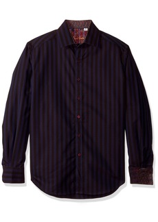 Robert Graham Men's Fort Crown Long Sleeve Classic FIT Woven Shirt