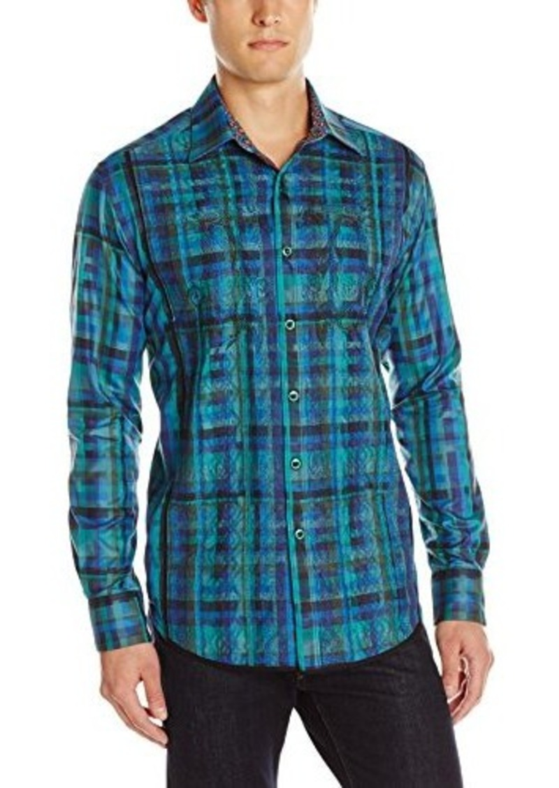 On sale today robert graham robert graham men 39 s galway for Mens teal button down shirt