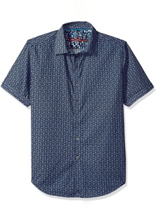 Robert Graham Men's Gardena S/s Classic Fit Woven Shirt
