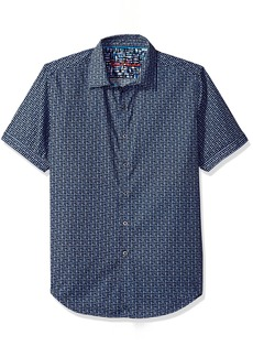 Robert Graham Men's Gardena S/s Classic Fit Woven Shirt  XL