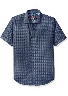 Robert Graham Men's Gardena S/s Classic Fit Woven Shirt  XL