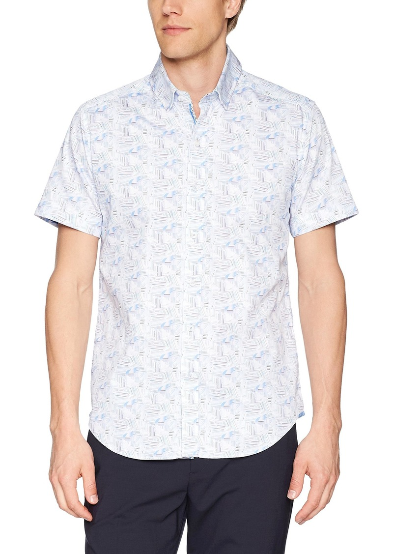 Robert Graham Men's GILBY Short Sleeve Slim FIT Shirt