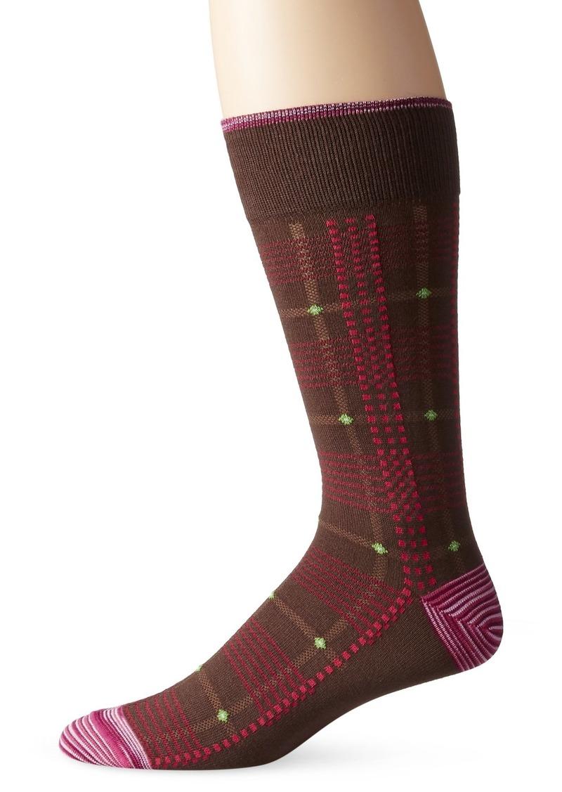 Robert Graham Men's Glow Worm Crew Sock