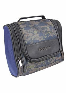 Robert Graham Men's Hanging Kit Toiletry Organizer w/Lots of Pockets Zip-Up Travel Cosmetic Bag