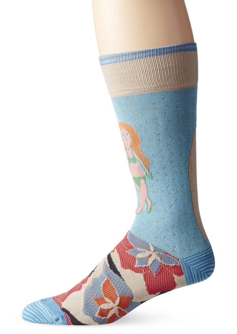 Robert Graham Men's Head Snap Crew Sock