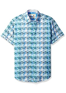 Robert Graham Men's Ipanema Short Sleeve Classic Fit Sport Shirt  XLarge