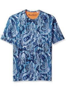 Robert Graham Men's Islets Cotton Modul Short Sleeve Knit Tee  XLarge