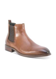 Robert Graham Men's Laurence Chelsea Leather Boots