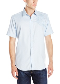 Robert Graham Men's Leakey Short Sleeve Button Down Shirt