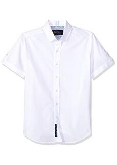 Robert Graham Men's Livingston Short Sleeve Slim FIT Shirt  2XLARGE