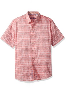 Robert Graham Men's Machado Short Sleeve Shirt  2XLARGE