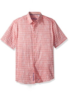 Robert Graham Men's Machado Short Sleeve Shirt  XLarge