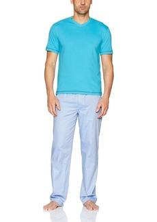 Robert Graham Men's Mahad Fusion 2-Piece Set with Jersey Top and Woven Pant  S