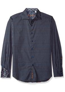 73872064dfc Robert Graham Robert Graham Jayesh Indigo Slim Fit Button-Down Shirt ...