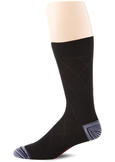 Robert Graham Men's Mikhail Sock  Sock Size:10-13/Shoe Size: 6-12