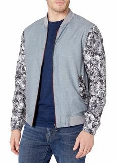 Robert Graham Men's Nimble Poly Cotton Woven Bomber Jacket