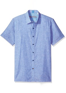 Robert Graham Men's Oakley S/s Tailored Fit Woven Shirt  3XL