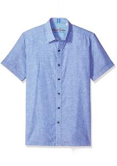 Robert Graham Men's Oakley S/s Tailored Fit Woven Shirt  3XL