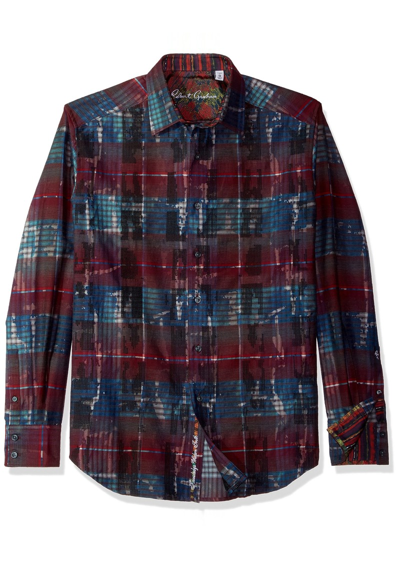 Robert Graham Men's Outwash Plains Classic Fit Woven Shirt  XLarge
