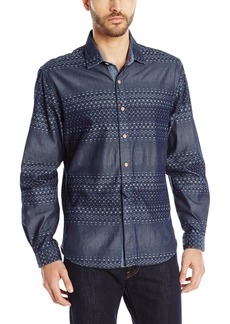 Robert Graham Men's Peninsular Long-Sleeve Button-Down Shirt