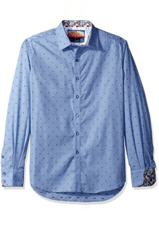 Robert Graham Men's Platt Long Sleeve Classic FIT Shirt