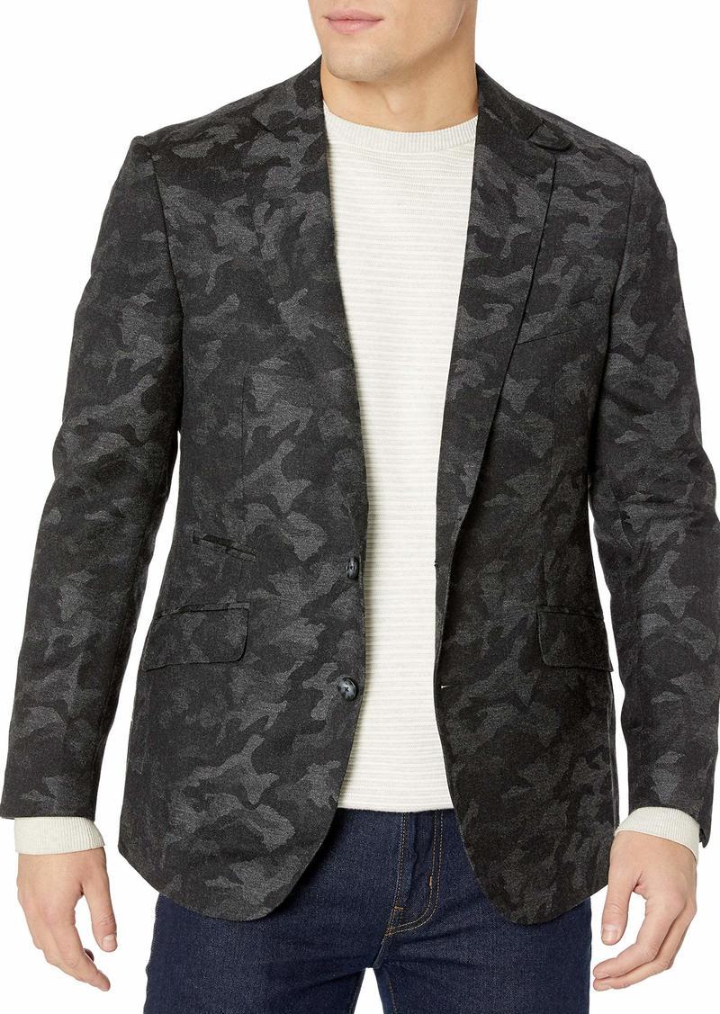 Robert Graham Men's Portgain Tailored Fit Woven Sportcoat Grey