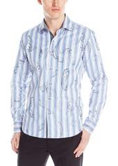 Robert Graham Men's Pueblo-Long Sleeve Button Down Shirt