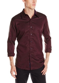 Robert Graham Men's Pyramid-ong Sleeve Button-Down Shirt  arge