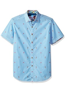 Robert Graham Men's Randle S/s Classic Fit Woven Shirt