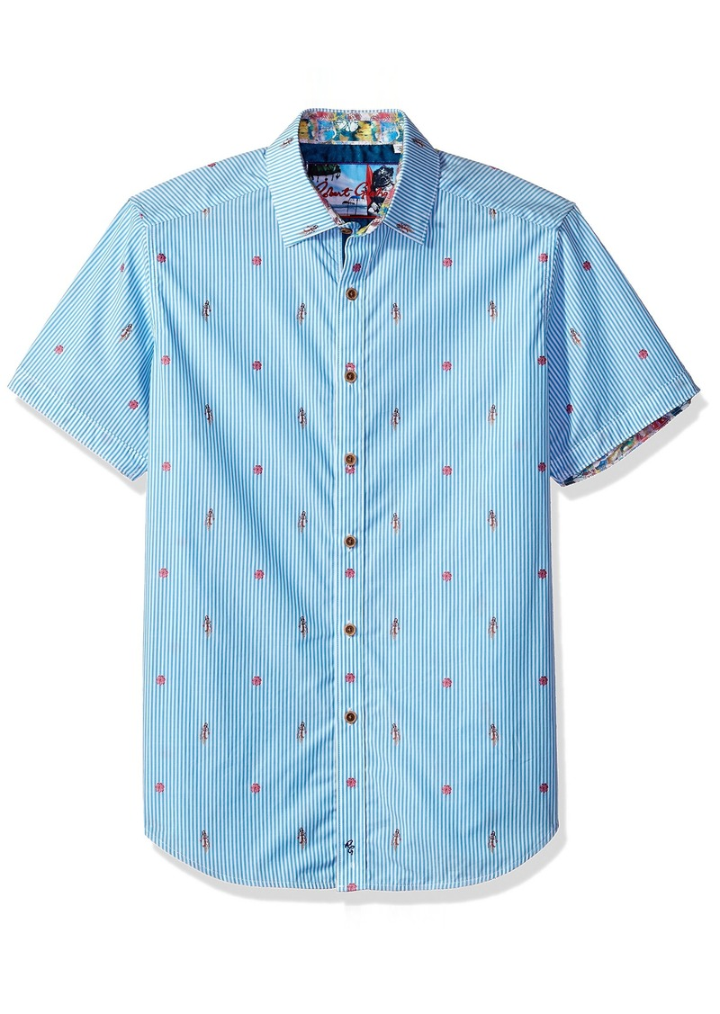 Robert Graham Men's Randle S/s Classic Fit Woven Shirt
