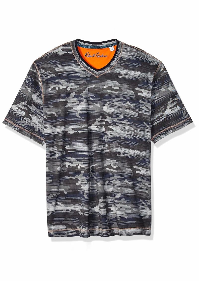 Robert Graham Men's Rhodes Short Sleeve CAMO Tshirt