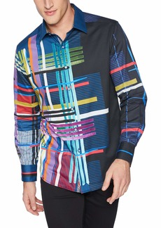 Robert Graham Men's Robinson Long Sleeve Classic FIT Shirt  3XLARGE