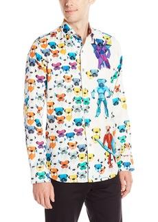 Robert Graham Men's Robot Bulldogs Limited Edition Long Sleeve Button Down Shirt