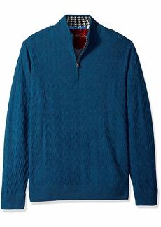 Robert Graham Men's Rowley Quarter Zip Sweater  3XLARGE