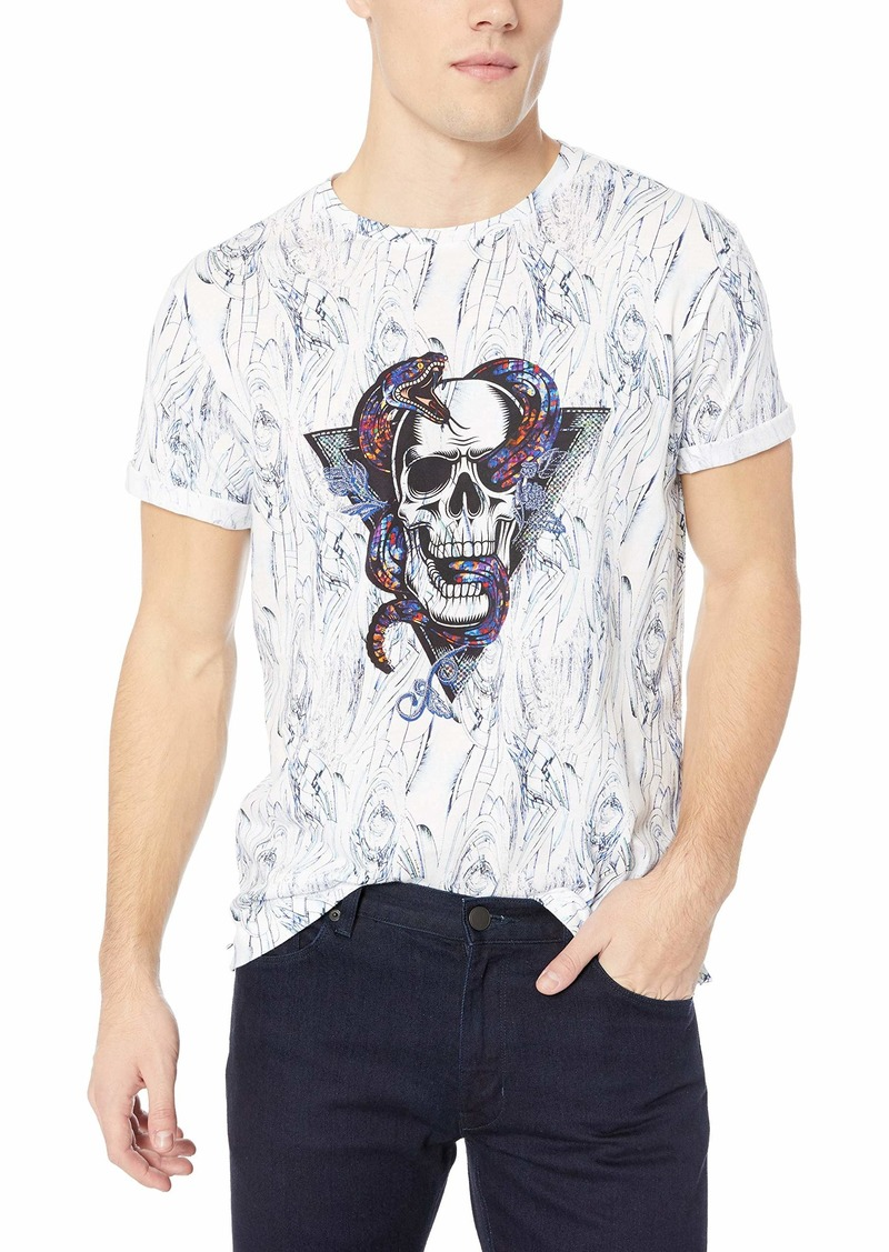 Robert Graham Men's Snake Skull Graphic Tshirt