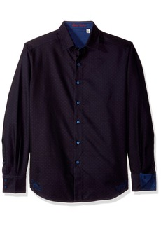 Robert Graham Men's Spruce Long Sleeve Woven Shirt