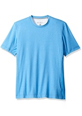 Robert Graham Men's Tailored Fit laser etched acitvewear Tee Shirt  XXX-Large