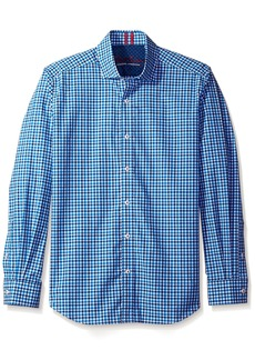 Robert Graham Men's Tailored Fit Woven Long Sleeve Sport Shirt