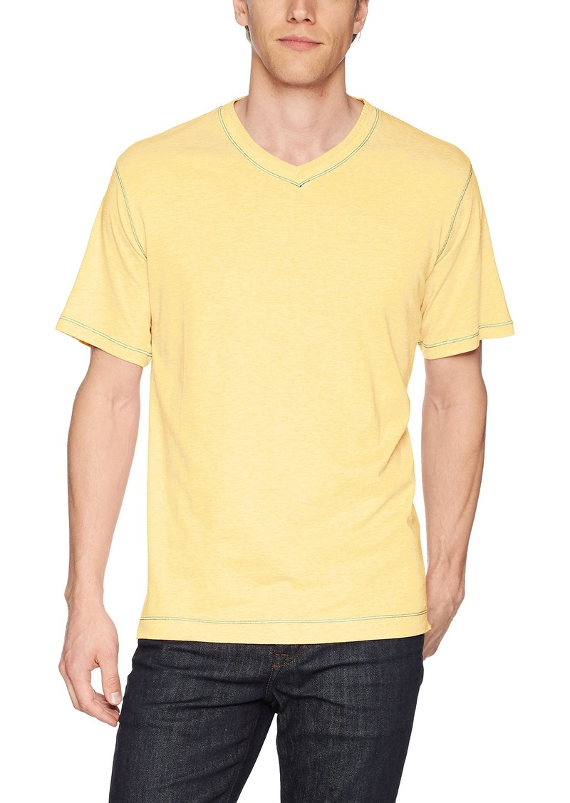 Robert Graham Men's Traveler Short Sleeve V-Neck T-Shirt  2XLARGE