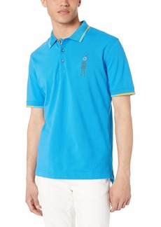 Robert Graham Men's Watch ME Short Sleeve Knit Polo  XLarge