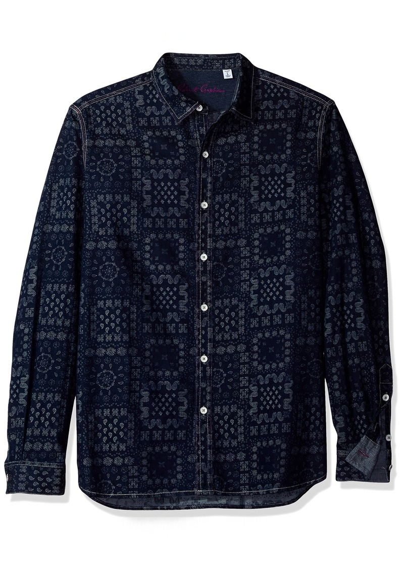 Robert Graham Men's Woven Long Sleeve Classic Fit Sport Shirt