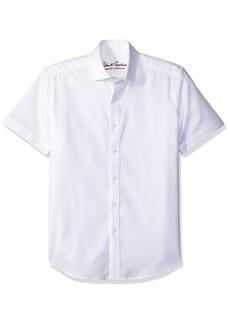 Robert Graham Men's Woven Short Sleeve Tailored Fit Sport Shirt