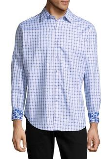 Robert Graham Microcar Printed Cotton Casual Button-Down Shirt