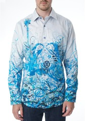 Robert Graham Mindscape Blues Embroidered Sport Shirt